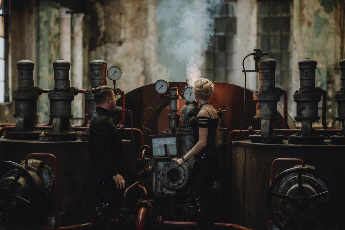 industrialna sesja narzeczenska